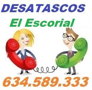 Telefono de la empresa desatascos El Escorial